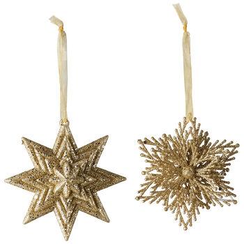 Christmas Decoration Decohanger ster/sneeuwvlok set 2 10cm