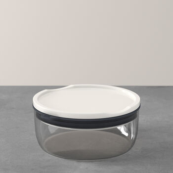 ToGo&ToStay lunchbox, 13x6cm, rond, grijs