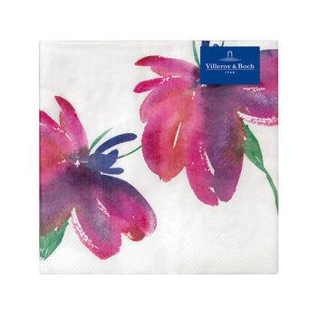 Papieren servetten Artesano Flower Art Lunch, 20 stuks, 33x33cm