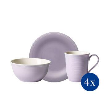 Color Loop Blueblossom ontbijt-set, blauw, 12-delig