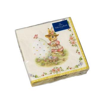 Spring Fantasy serviettes de table, Anna et Paul, 25x25cm, 20pièces