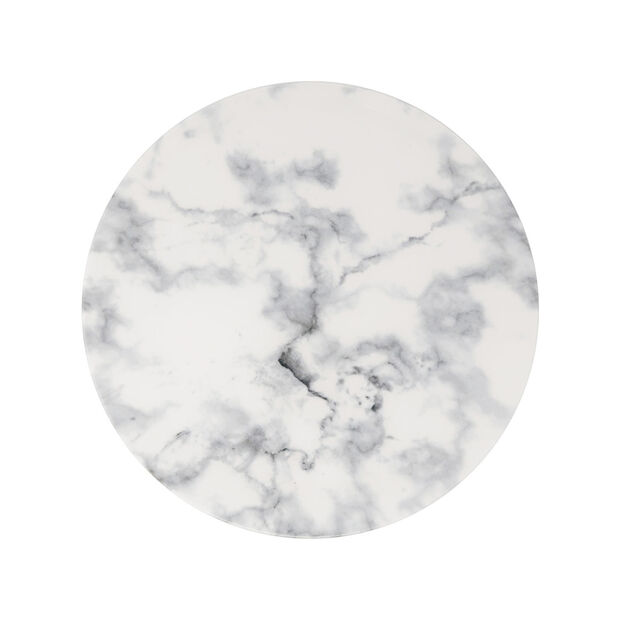 Marmory assiette plate blanche, 27x27x1,5cm, , large