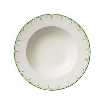 Colourful Spring dep bord, 25 cm, 456 ml, wit/groen