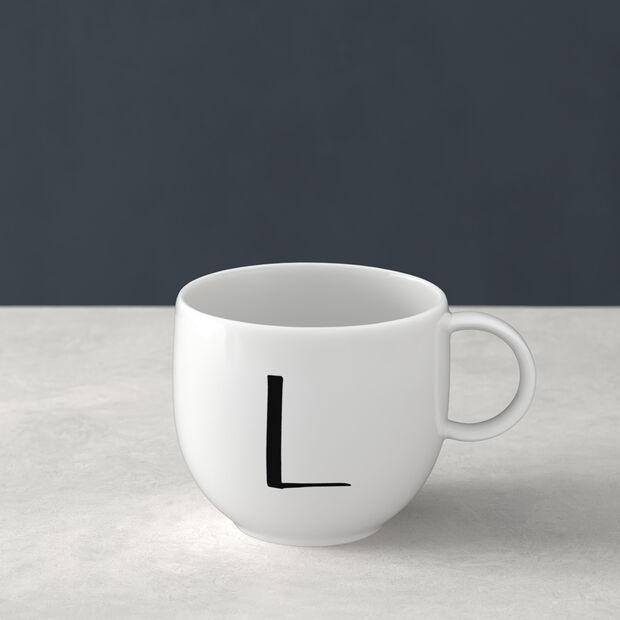 Letters beker F 13x10x8cm, , large