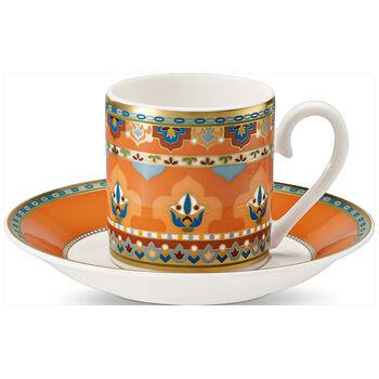 Samarkand Mandarin Tasse moka avec soucoupe 2pcs