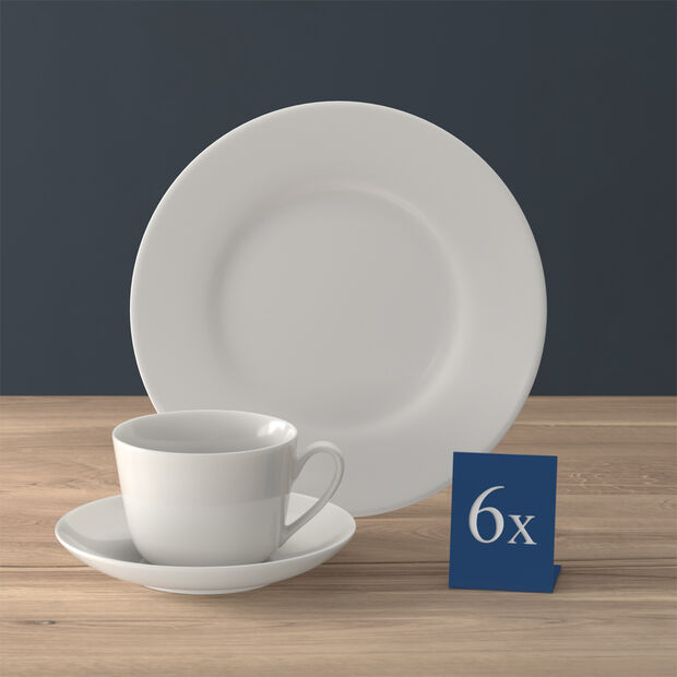 Twist White koffie-set, 18-delig, voor 6 personen, , large