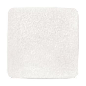 Manufacture Rock Blanc vierkante serveerschaal/gourmetbord, wit, 32,5 x 32,5 x 1,5 cm