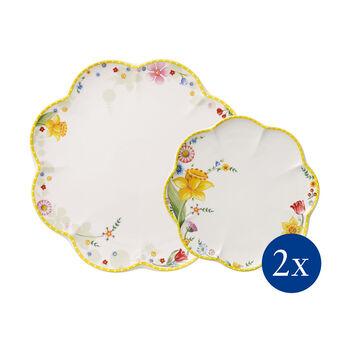 Spring Awakening borden-set, bloemen, 4-delig, voor 2 personen