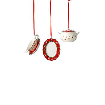 Toy's Delight Decoration ornamenten-set serveerdelen, 3 x 6 cm, 3-delig