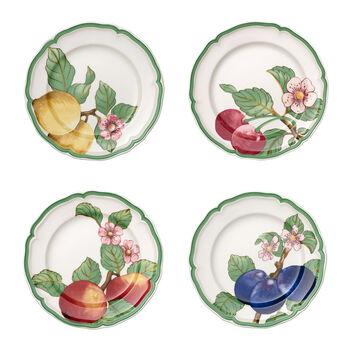 French Garden Modern Fruits eetbord set van 4