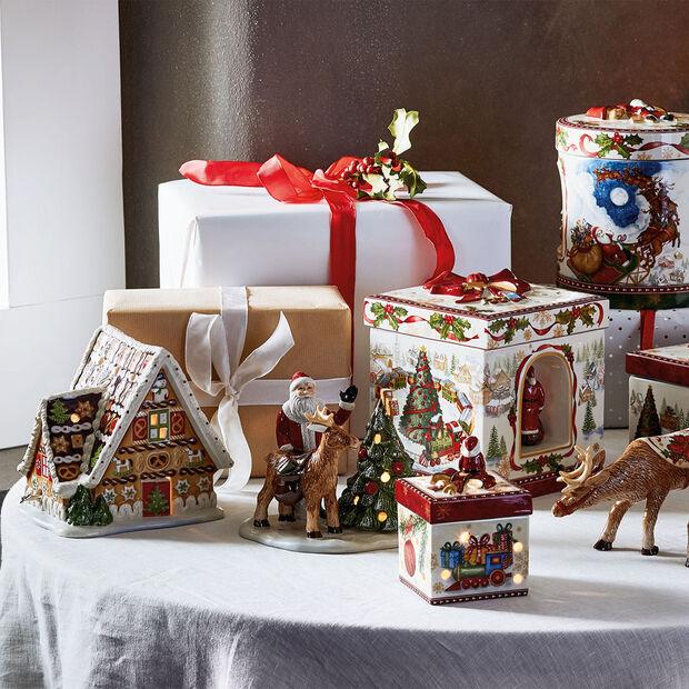 Christmas Toys Maison pain d'épices av. boîte à musique 16x13x16cm, , large