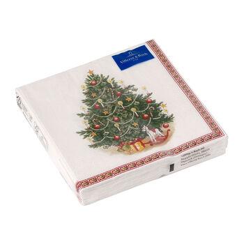 Winter Specials lunch-servet dennenboom, groen/gekleurd, 20 stuks, 33 x 33 cm