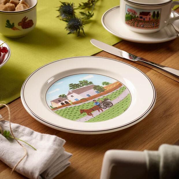 Design Naif assiette à dessert motif fermier, , large