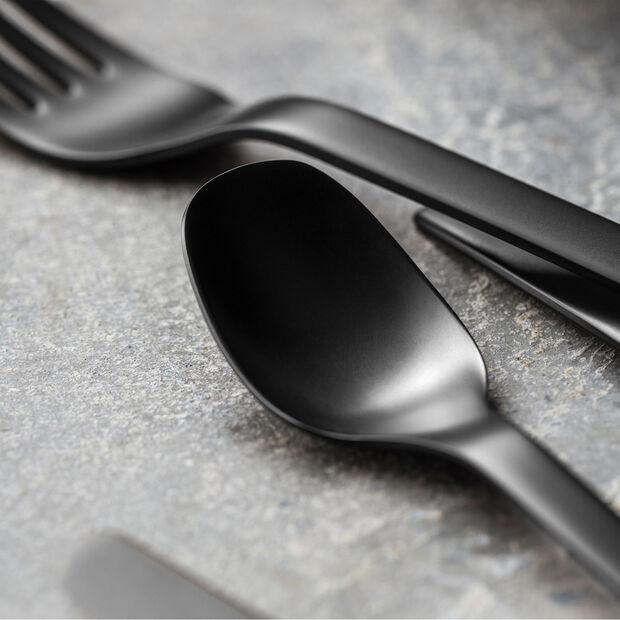 Manufacture Rock tafelbestek, voor 4 personen, 16-delig, zwart, , large