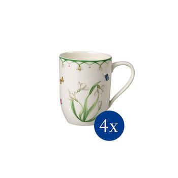 Colourful Spring koffiebeker, bloemen, 340 ml, 4 stuks