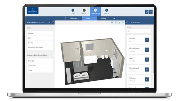 Badkamerplanner uw eigen droombadkamer online ontwerpen villeroy boch - Planner bagno 3d ...