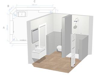 Badkamerplanner uw eigen droombadkamer online ontwerpen for Planner bagno 3d