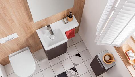 Inloopdouche Kleine Badkamer Inspiratie.Kleine Badkamer Met Douche Ruimteoplossingen Villeroy Boch