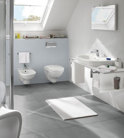 Leemstuc In De Badkamer ~ Badkamer met schuin dakgedeelte slim gebruiken  Villeroy & Boch