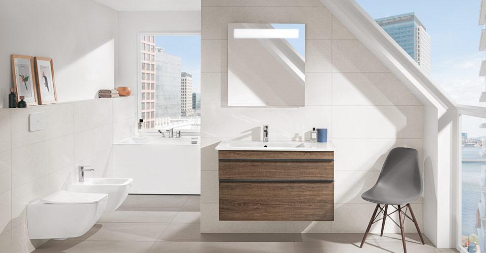 Les salles de bains mansard es utiliser l espace for Villeroy et boch salle de bain