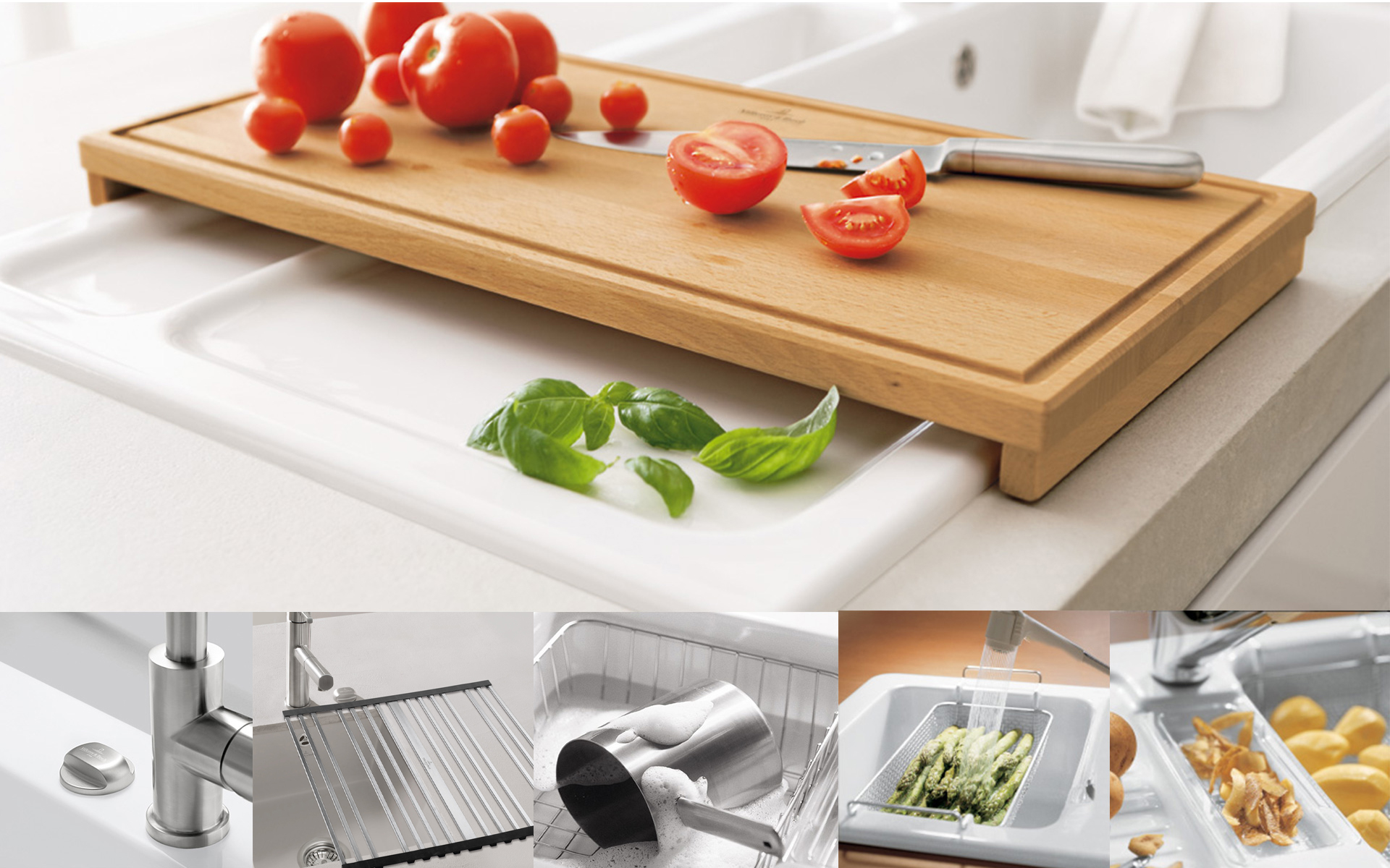 accessoires de cuisine de villeroy boch pour une cuisine plus amusante. Black Bedroom Furniture Sets. Home Design Ideas