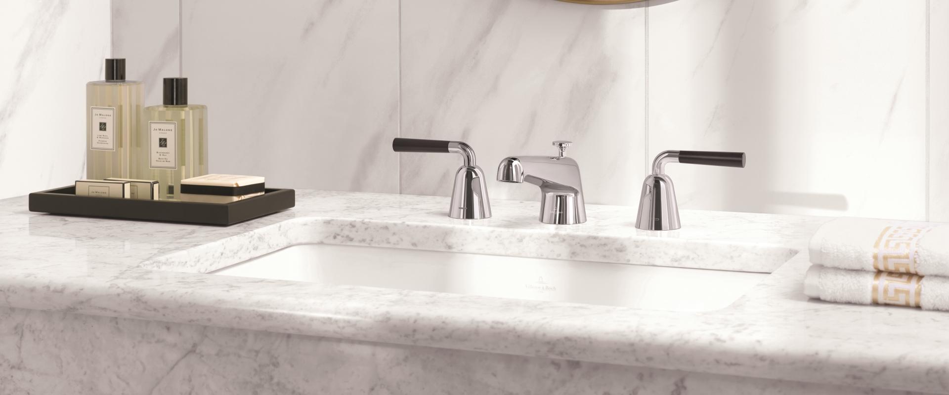la collection domicil de villeroy boch. Black Bedroom Furniture Sets. Home Design Ideas